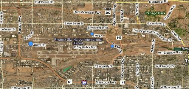 Scottsdale Airpark region includes Kierland, Northsight / Raintree complex, The Promenade